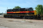 IAIS 156, EMD SD38-2, shows off her fresh paint as she glistens in the sun