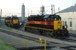 IAIS 156, 153, EMD SD38-2, sit on the ready tracks