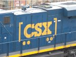 The New CSX Boxcar Logo on the side of CSX 991.