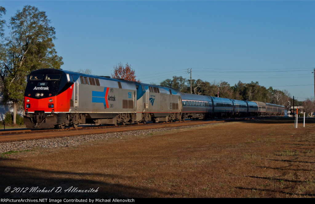 Amtrak Silver Meteor #97 with a heritage unit!