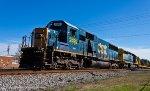 Loaded work train CSX A043 heads back to Savannah