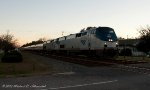 Amtrak Silver Meteor #98 blasts its way through the Love St crossing