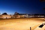 CSX Q455 flashes through at dusk