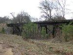 Abandoned railroad trestle at Allie, Ga.