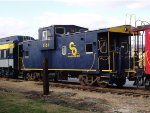 C&O Wide Vision Caboose #3168 on Display at Clifton Forge,Va