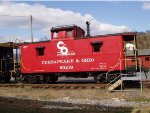 C&O Steel Caboose #90219 on Display at C&O Heritage Ctr in Clifton Forge,Va