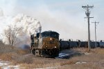 Eastbound CSX 3rd Unit Doing its Best Impression of a Steam Locomotive