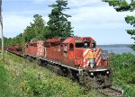 Chalk River CWR train at Sand Point