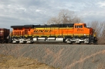 BNSF 5791, ES44AC, is eastbound waiting for a signal