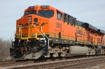 BNSF 5900, ES44AC, in the siding