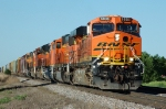 BNSF 5935, ES44AC, leads five more units westbound