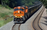 BNSF 6188, ES44AC, eastbound on the new double track