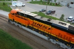 BNSF 7843, ES44DC, at the Qwest Center