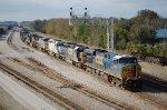 CSX 5488 on nine unit CSX Q457