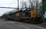CSX SD40-2 8135 trails on Q702-04