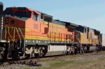 BNSF 818 in middle of colorful lashup on NS 225