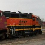 BNSF 2039, rear portion of engineer's side