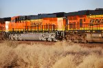 BNSF 6901 Heads eastbound as a #3 unit on a Z Train as she slows for a crew swap.