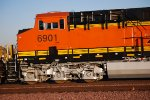 BNSF 6901 Numbers are now Black as she rolls east on probabley Her Return First Revenue Run?