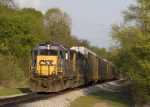 CSX 8593 outlawed on the W&LE main