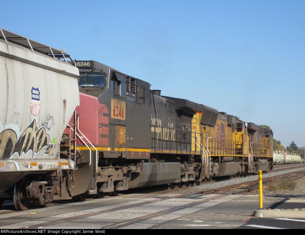 UP Grain Train in Roseville