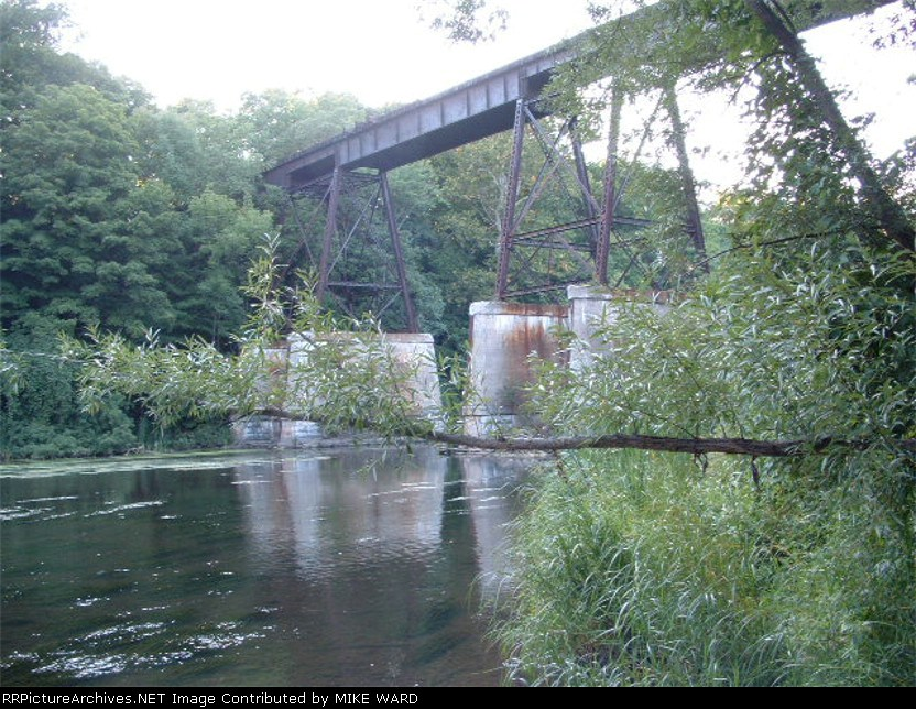 The Burt trestle over 18 mile creek (Famous for the salmon fishing)
