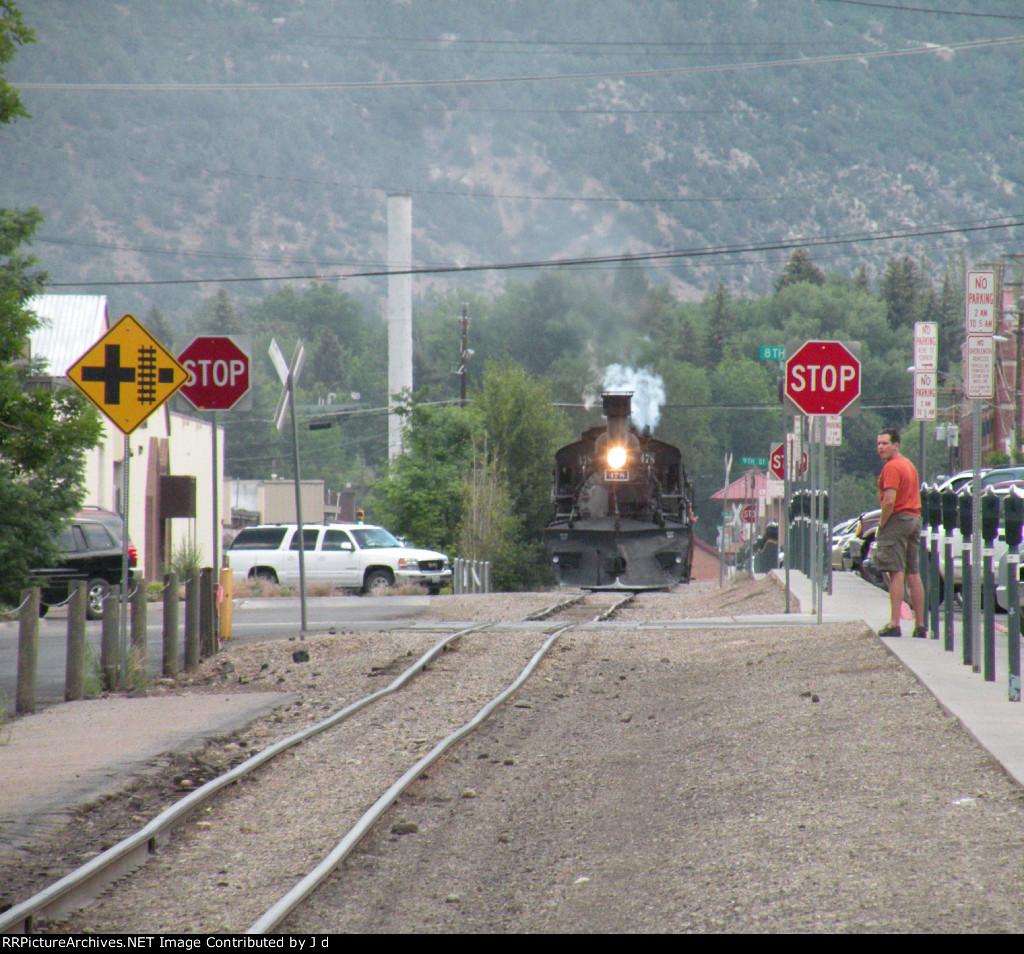 Last train inbound of the day