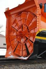 BNSF# 972551 rotary snow blower