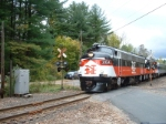 The farewell trip crosses over Lime Rock Station Road