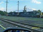 NS 8045 leads a NS coal train heads thru Columbia