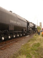 UP 844 at Salina, Kansas with the South Central States Heritage Express
