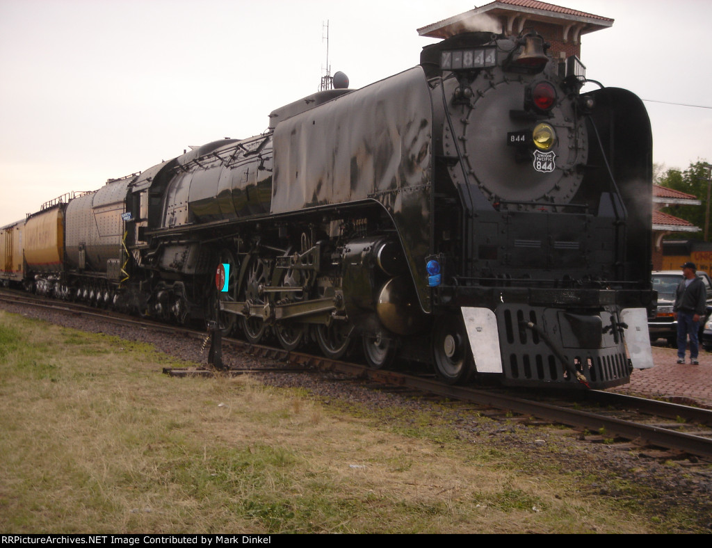 Union Pacific FEF-3 locomotive No. 844 at Salina, Kansas with the South Central States Heritage Express