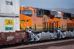 BNSF 6915 and BNSF 6914 roll eastbound as #3 and #4 units towards BNSF Barstow.