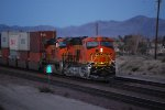 BNSF 6901 heads west as the rear most DPU in this early am shot.