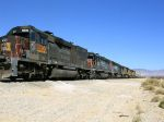 3 SP units sit on a freight to West Colton