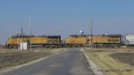 UP 6734 & UP 5712 Leading a southbound across the W. Montgomery Road Crossing