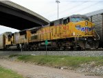 UP 9813 waits for a crew along Hardy Rd near Crosstimbers
