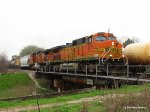 BNSF 5270 & 5460 eastbound on the Houston Belt Rwy