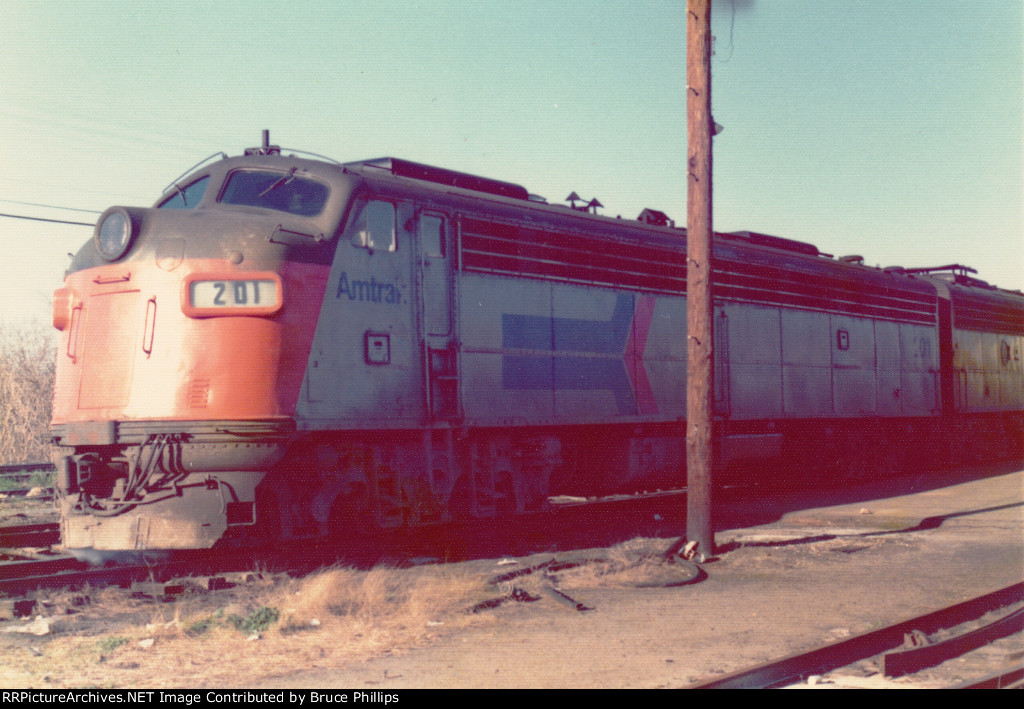 Amtrak E8A on Southbound Floridian - 1974