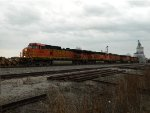 BNSF 4550 running the local