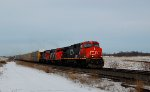 CN A401 with 2618 passing CN J874 at St-Germain,QC