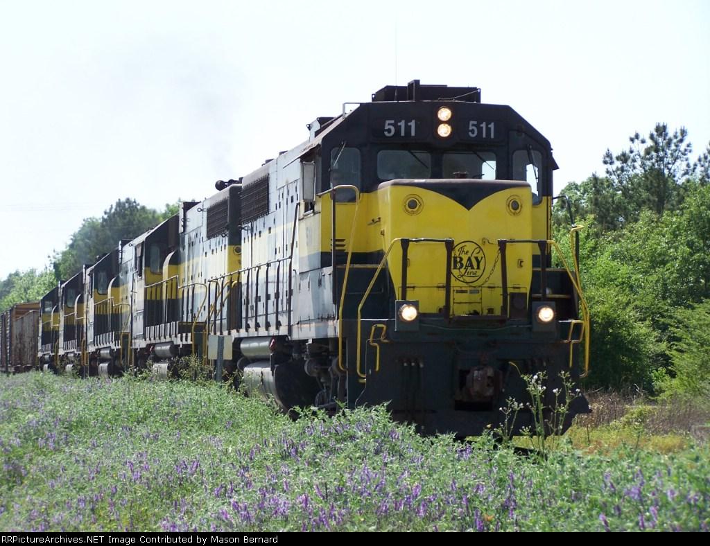 Meridian and Bigbee mixed freight train