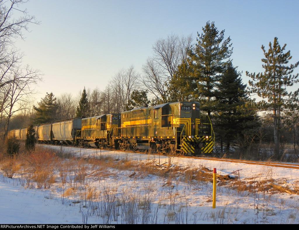 Adrian & Blissfield Empty Grain Train
