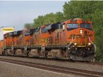 BNSF 7566 leads more stacks wb.