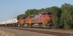 BNSF 650 leads a hot z train westbound and proud santa fe,