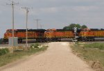 BNSF 7456 leads a wb z train.