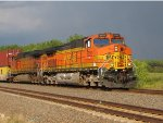 BNSF 5022 leads a wb stack train.