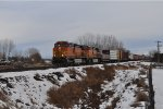 BNSF 4122 with Eastbound Mixed Freight