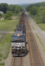 NS 9273 with a westbound steel slab train