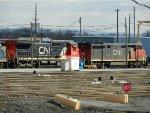 CN GE C40-8 2101 & GE C40-8M 2436